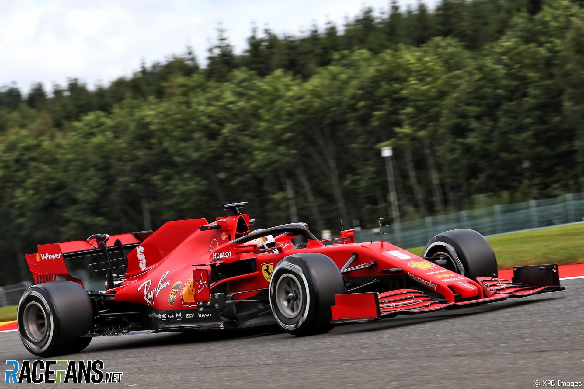 Sebastian Vettel, Ferrari, Spa-Francorchamps, 2020