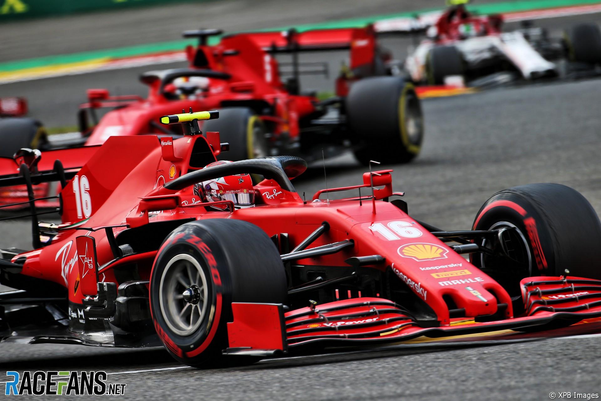 Charles Leclerc, Ferrari, Spa-Francorchamps, 2020