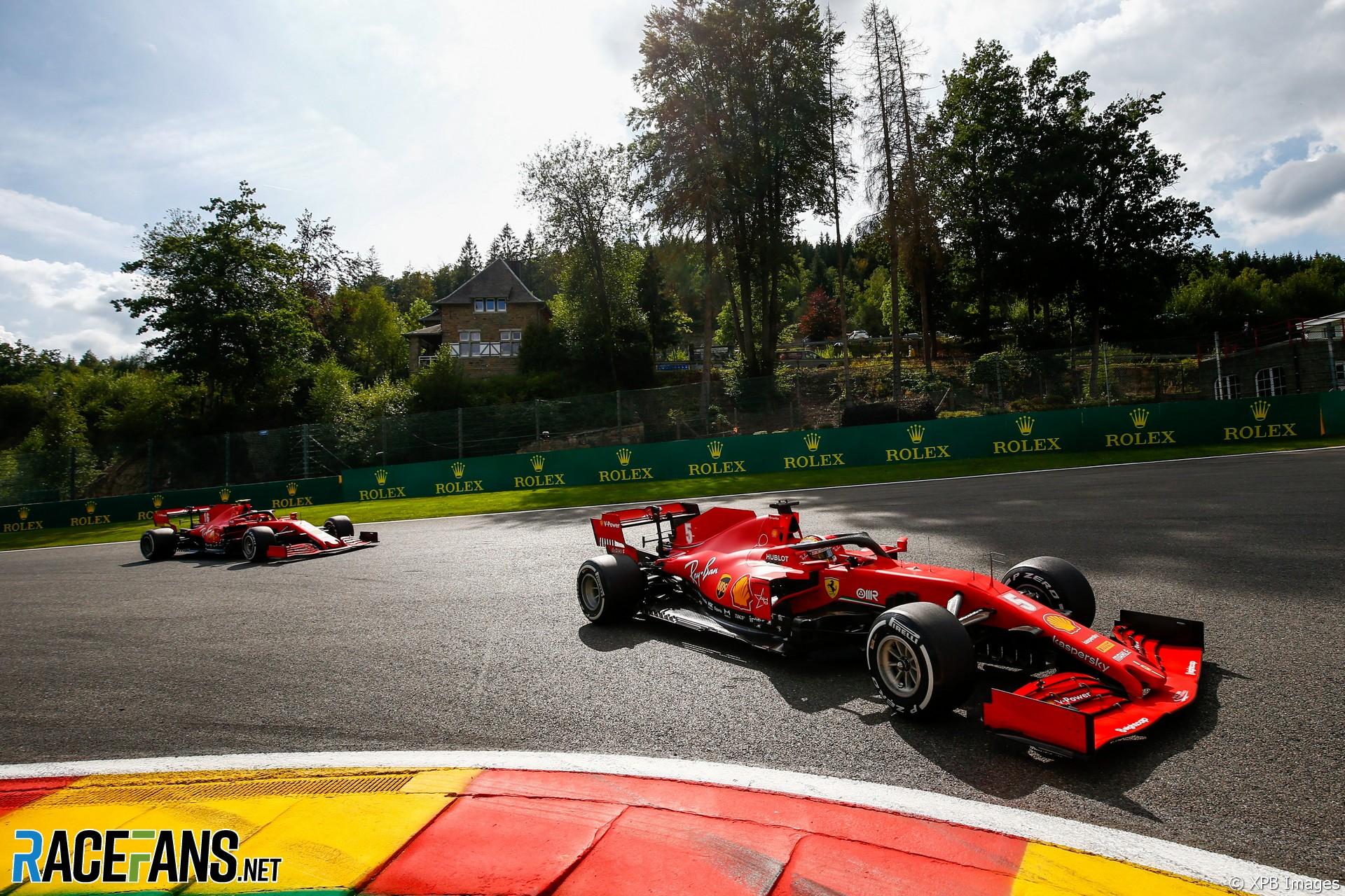 Sebastian Vettel Ferrari Spa Francorchamps 2020 Racefans