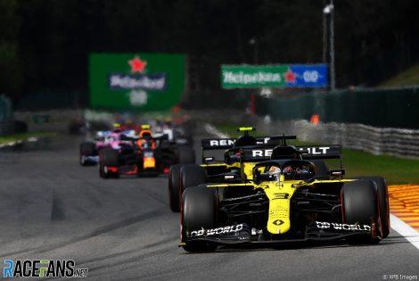 Daniel Ricciardo, Renault, Spa-Francorchamps, 2020