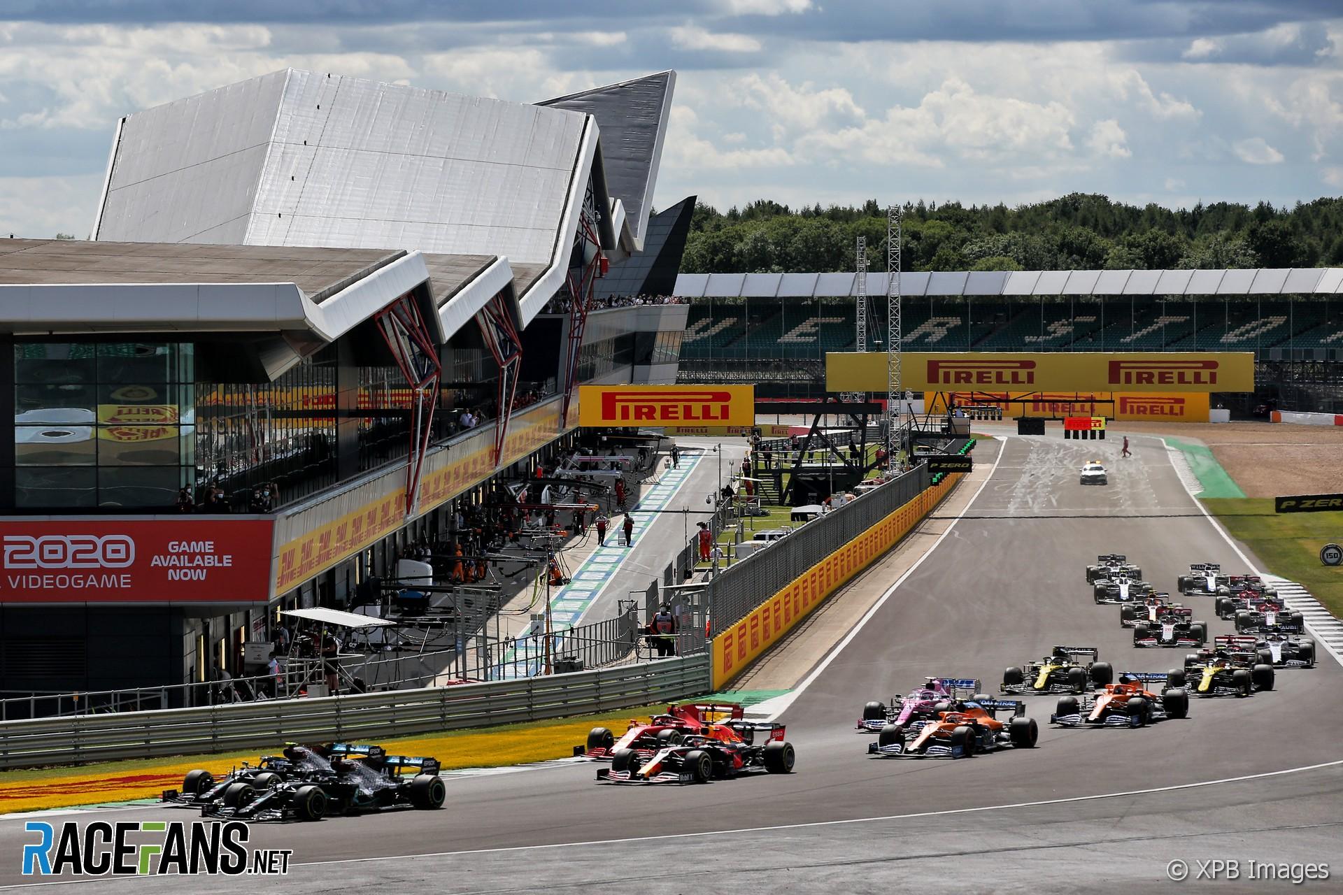 Start, Silverstone, 2020
