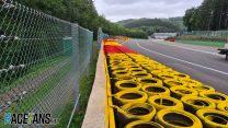 Raidillon barrier, Spa-Francorchamps, 2020