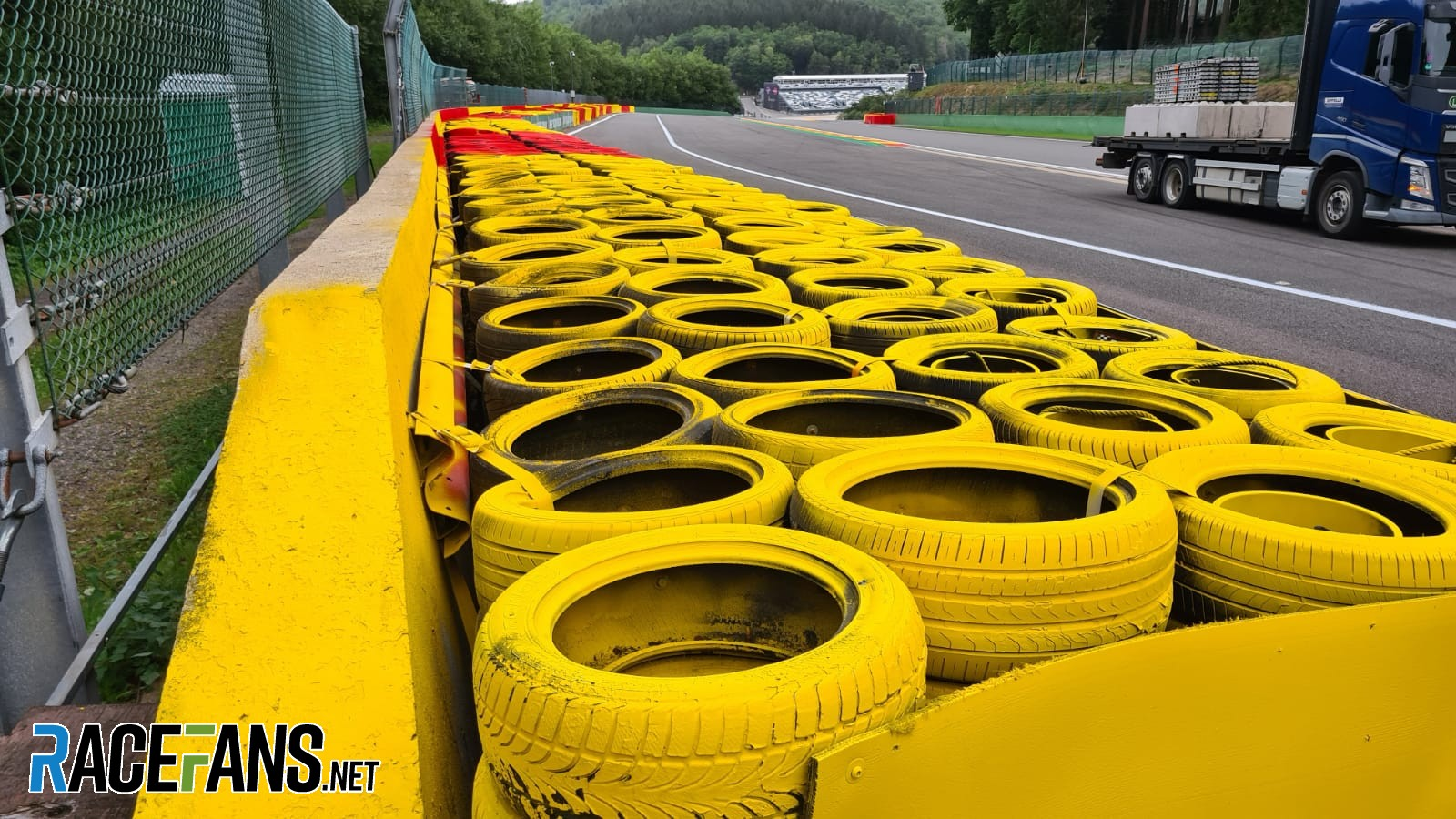 Raidillon barrier, Spa-Francorchamps, 2020