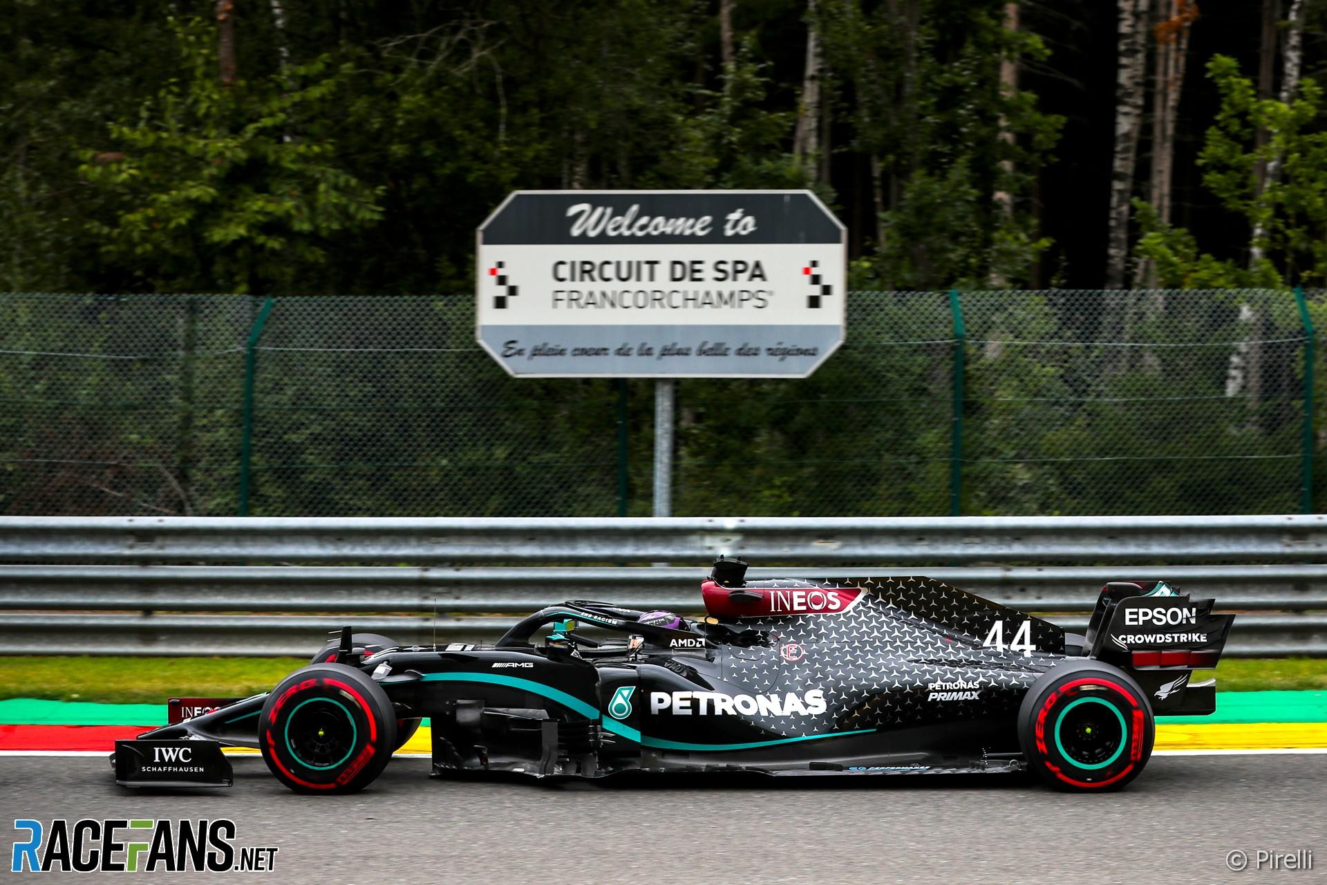 Lewis Hamilton, Mercedes, Spa, 2020