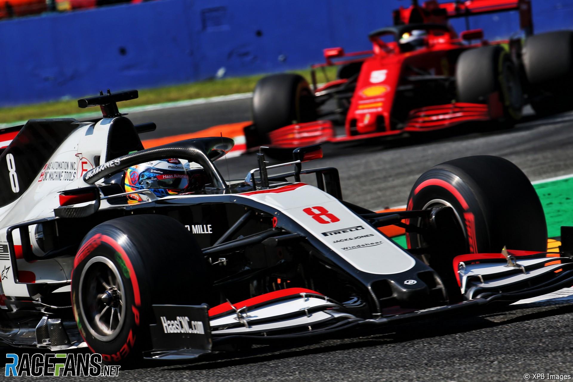 Romain Grosjean, Haas, Monza, 2020