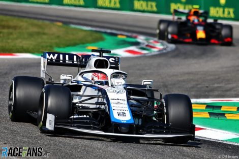 George Russell, Williams, Monza, 2020
