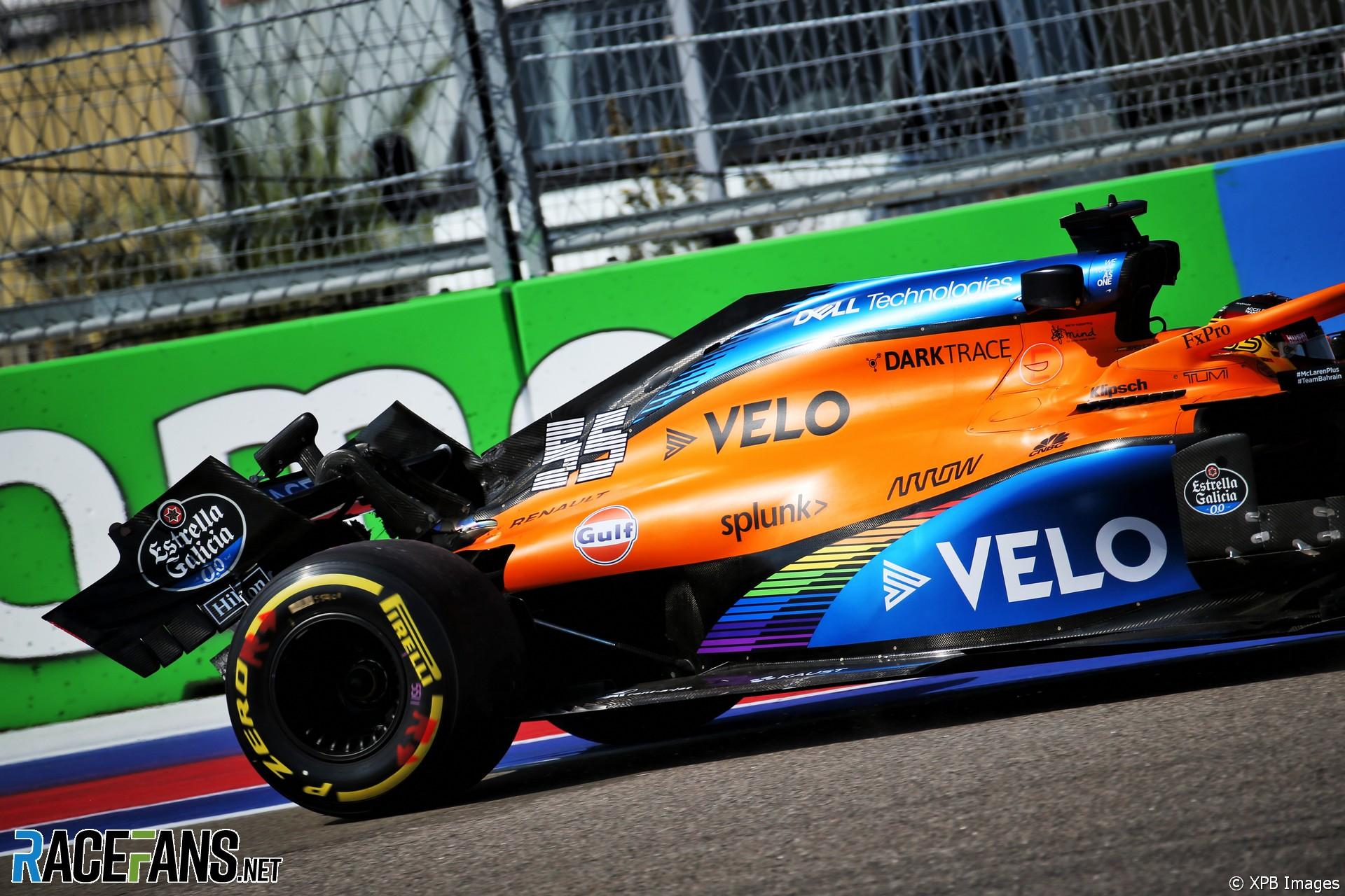 Carlos Sainz Jnr, McLaren, Sochi Autodrom, 2020