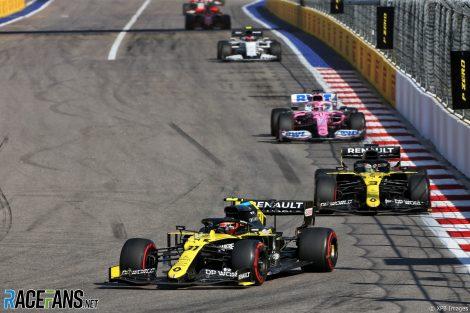 Esteban Ocon, Renault, Sochi Autodrom, 2020