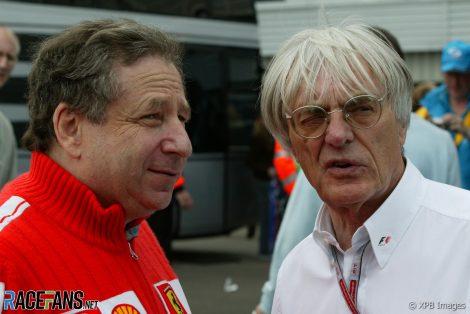 Jean Todt, Bernie Ecclestone, 2004