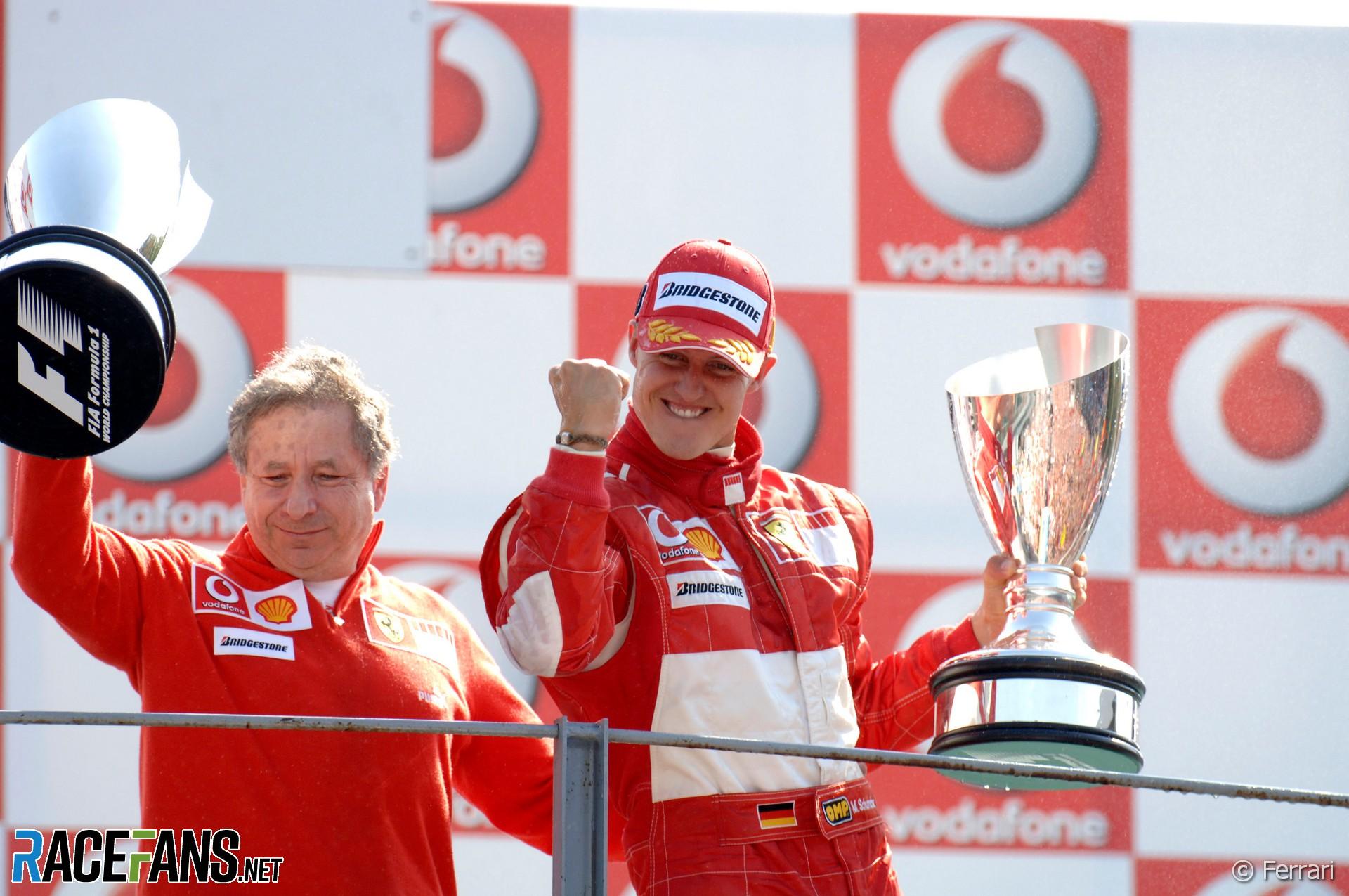 Michael Schumacher, Jean Todt, Ferrari, Monza, 2006