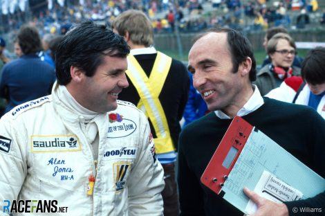 Alan Jones, Frank Williams, Williams, Zolder, 1980