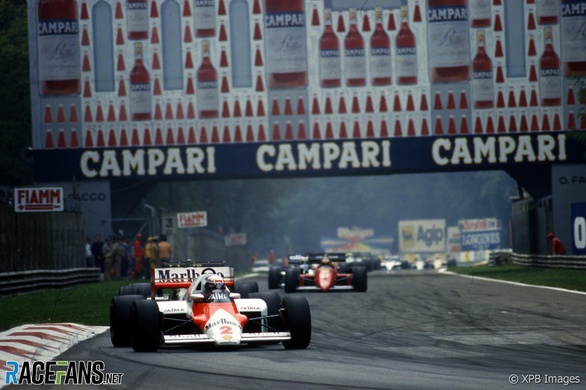 Alain Prost, McLaren, Monza, 1985