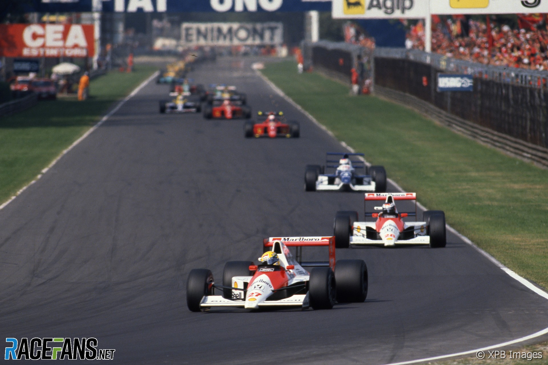 Ayrton Senna, Gerhard Berger, Jean Alesi, Monza, 1990