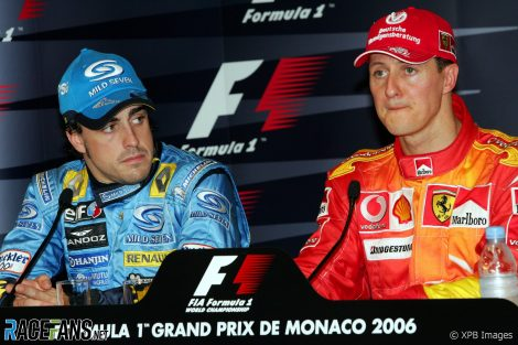 Fernando Alonso, Michael Schumacher, Monaco, 2006