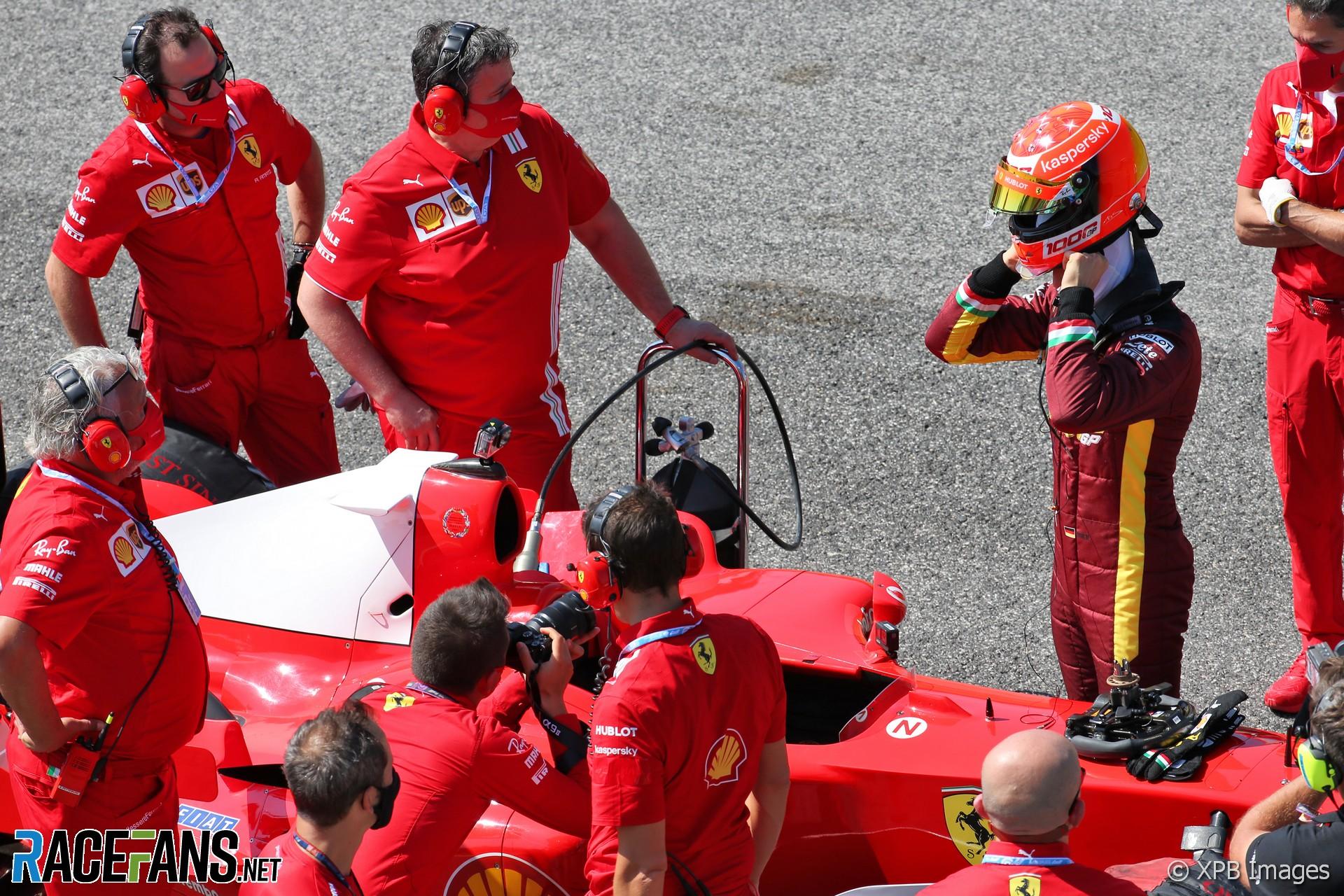 Mick Schumacher, Ferrari F2004 run, Mugello, 2020 · RaceFans