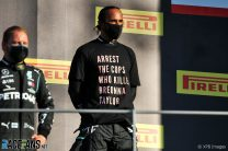 Hamilton says FIA will introduce new rules in response to Breonna Taylor T-shirt controversy