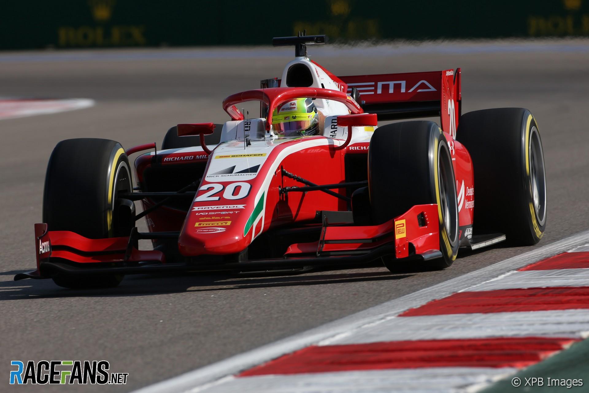 Mick Schumacher, Prema, Formula 2, Sochi, 2020