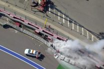 F1 drivers impressed by TecPro but concerned over fire in huge F2 crash