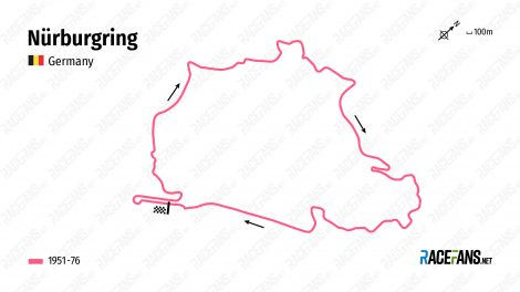 Nurburgring Nordschleife track map
