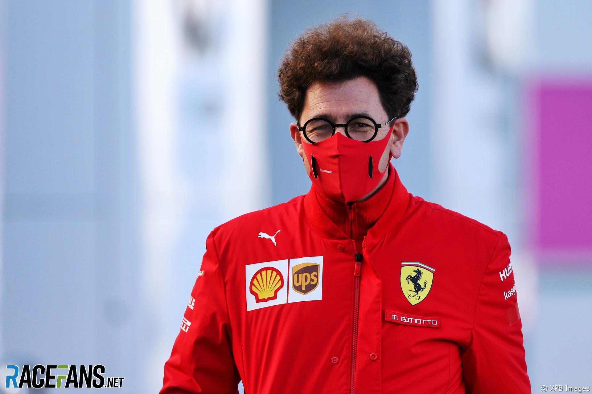Mattia Binotto, Ferrari, Nurburgring, 2020