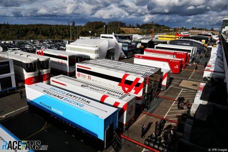 Paddock, Nurburgring, 2020