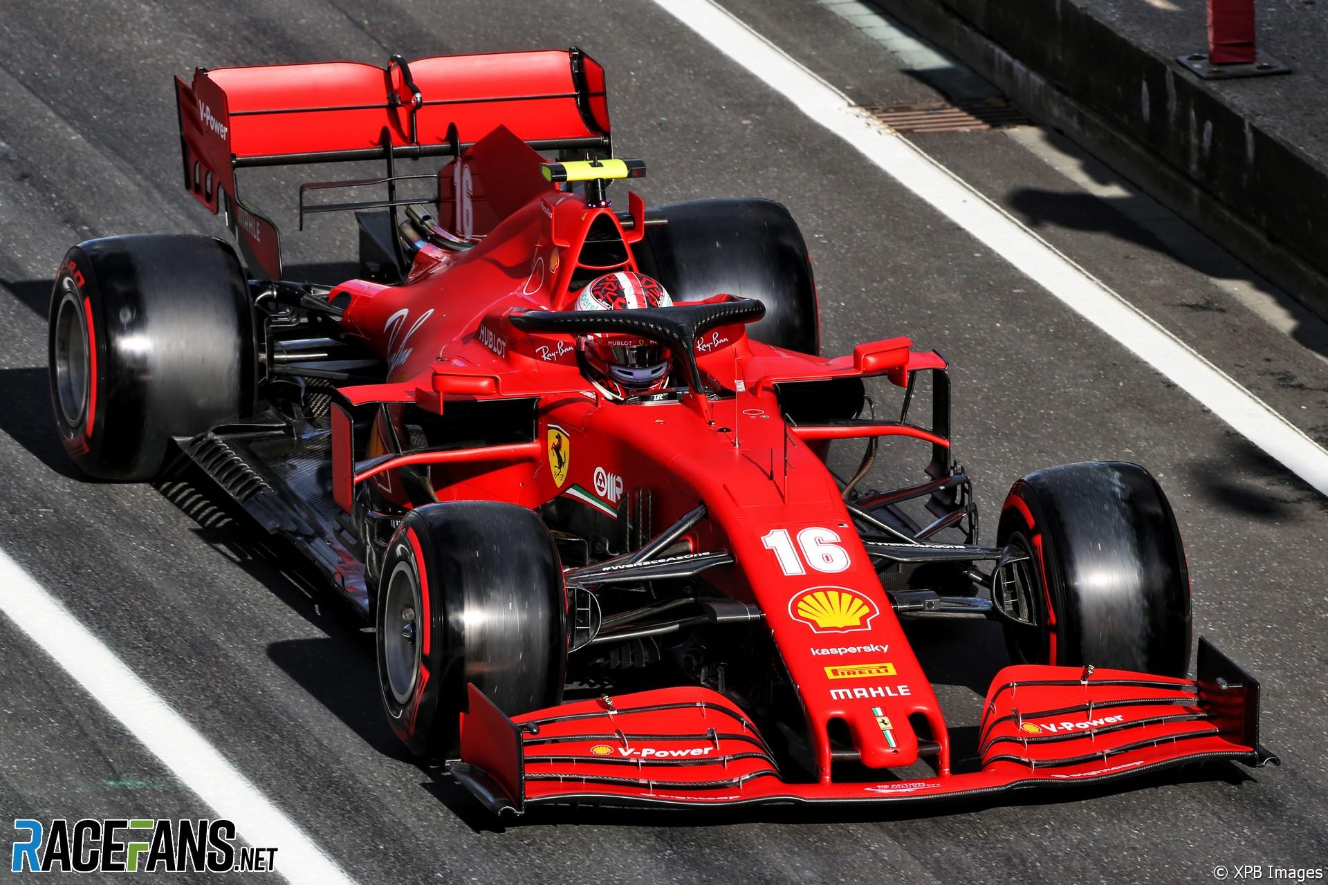 Charles Leclerc, Ferrari, Nurburgring, 2020