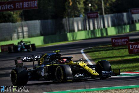 Esteban Ocon, Renault, Imola, 2020