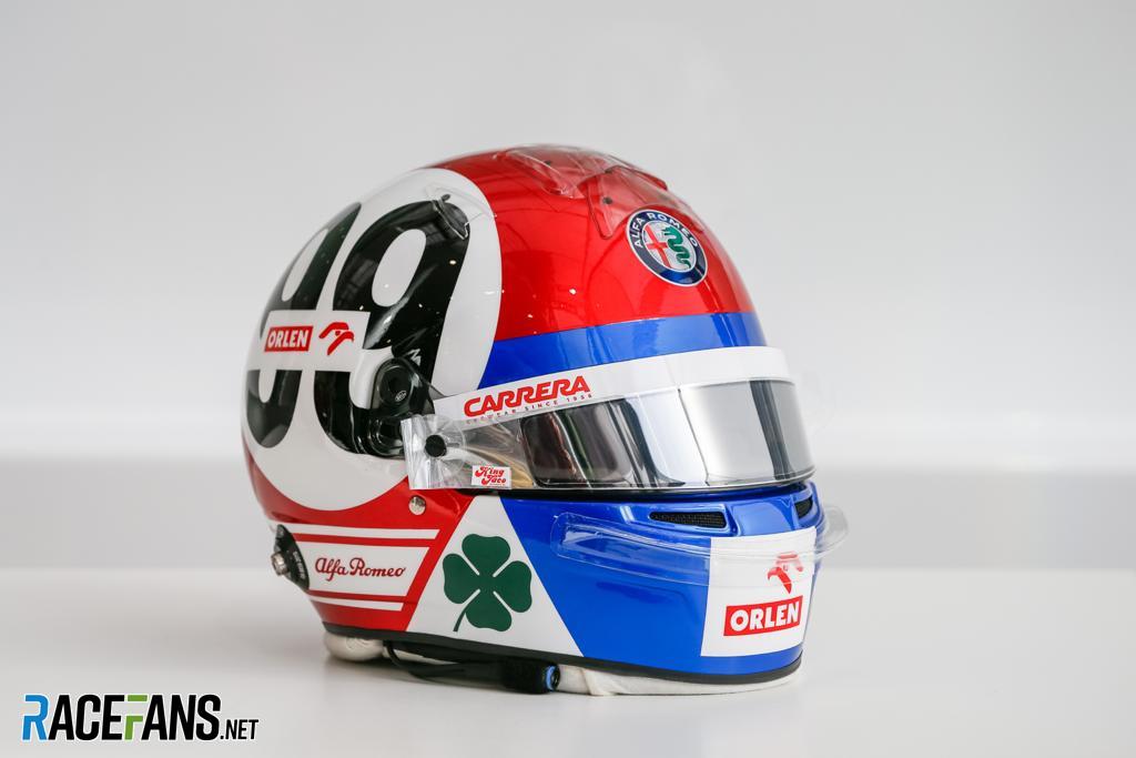 Antonio Giovinazzi's Emilia-Romagna Grand Prix helmet, 2020