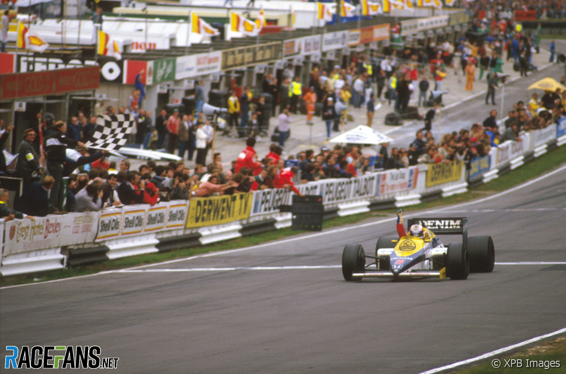 Nigel Mansell, Williams, Brands Hatch, 1985