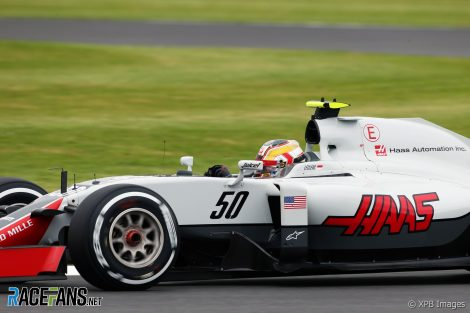 Charles Leclerc, Haas, Silverstone, 2016