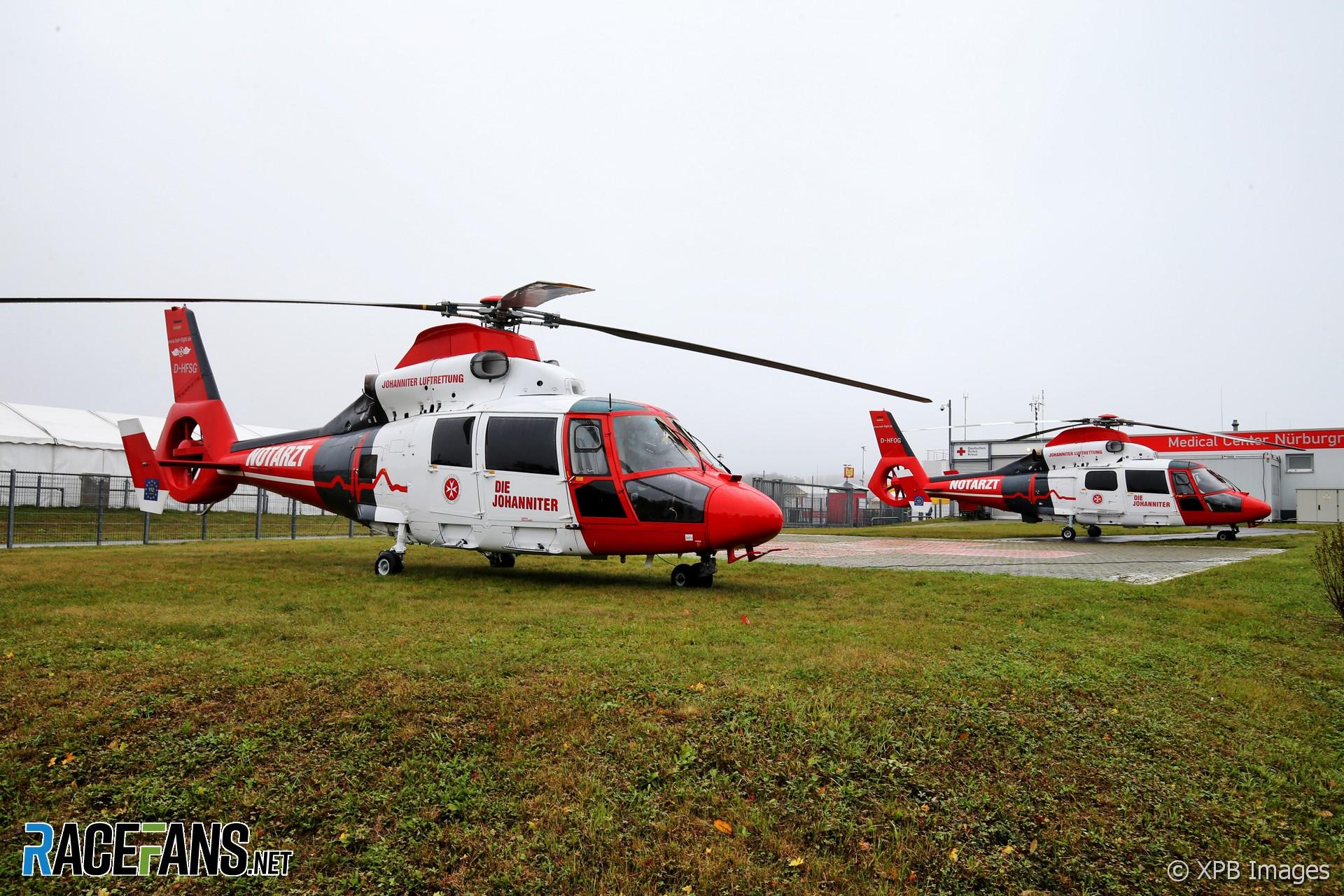 Medical helicopters, Nurburgring, 2020
