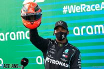 """Hamilton pays tribute to """"an icon and a legend"""" after equalling Schumacher's wins record"""
