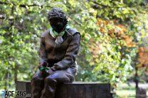 Ayrton Senna statue, Imola, 2020