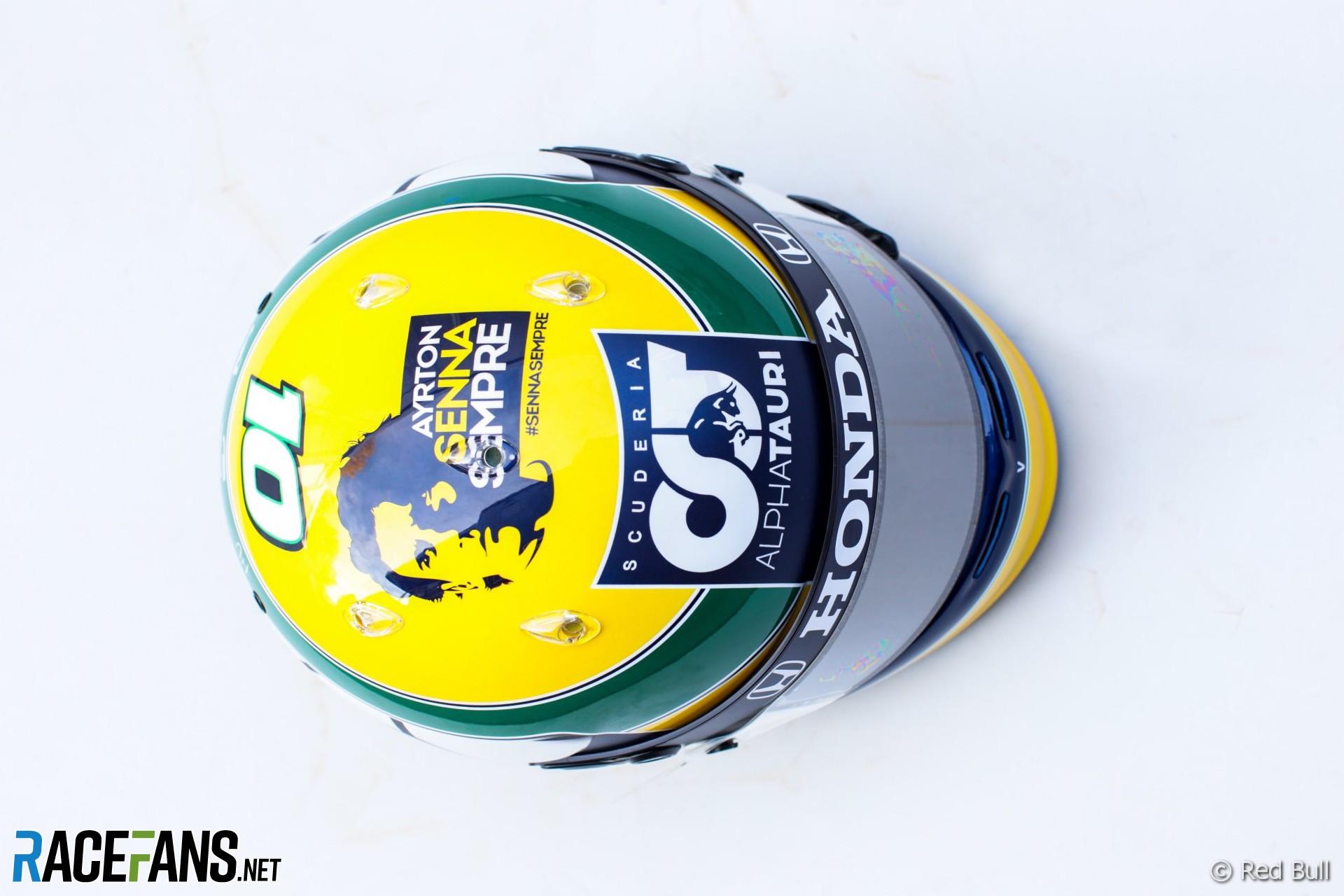 Pierre Gasly's Emilia-Romagna helmet, 2020