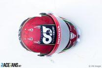Daniil Kvyat's Emilia-Romagna Grand Prix helmet, 2020
