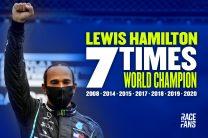 Hamilton wins seventh F1 title and equals Schumacher's record