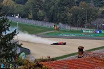 Red Bull suspect debris caused tyre failure which ended Verstappen's race