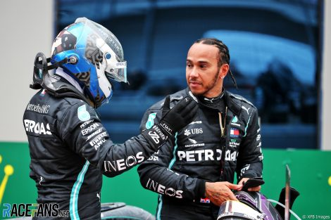 Valtteri Bottas, Lewis Hamilton, Istanbul Park, 2020