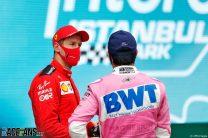 Sebastian Vettel, Sergio Perez, Istanbul Park, 2020