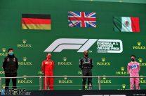 Toto Wolff, Sebastian Vettel, Lewis Hamilton, Sergio Perez, Istanbul Park, 2020