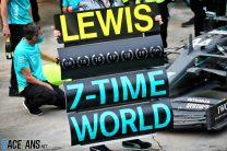 Mercedes celebrate Lewis Hamilton's seventh world championship, Istanbul Park, 2020