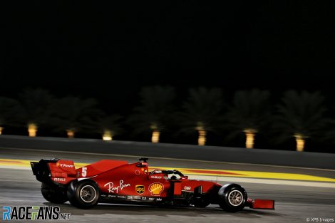Sebastian Vettel, Ferrari, Bahrain International Circuit, 2020