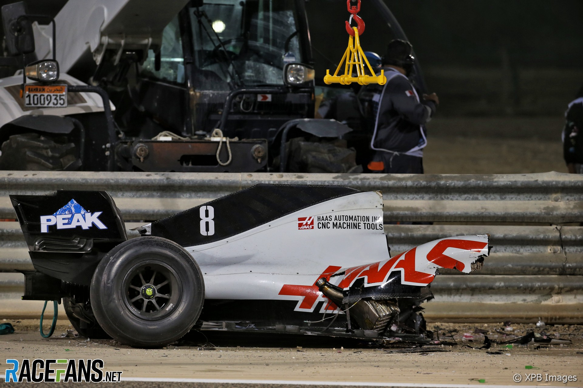 Romain Grosjean crash, Bahrain International Circuit, 2020