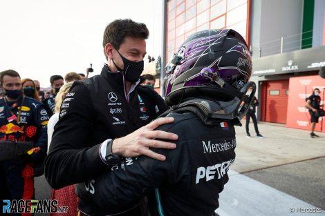 Toto Wolff, Lewis Hamilton, Mercedes, Imola, 2020