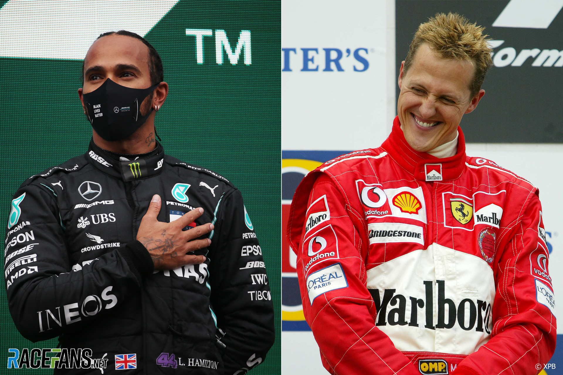 F1's seven-times champions: Hamilton and Schumacher
