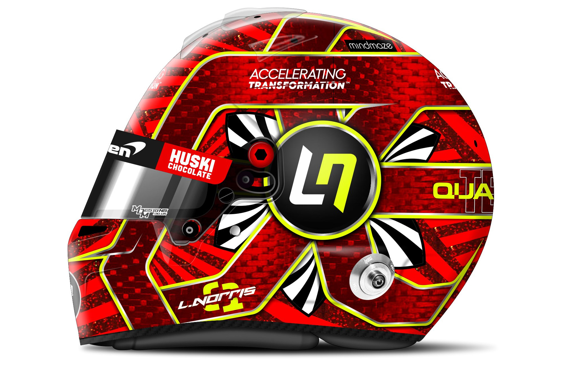 Lando Norr's unraced 2020 Turkish Grand Prix helmet