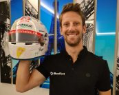 Grosjean unable to wear his children's helmet design as he misses final race