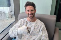 Grosjean to stay in hospital another night but aims for Abu Dhabi return