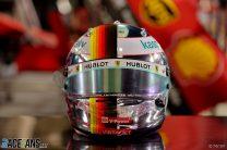 Sebastian Vettel's 2020 Sakhir Grand Prix helmet