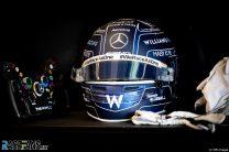 George Russell's helmet, Williams, Yas Marina, 2020